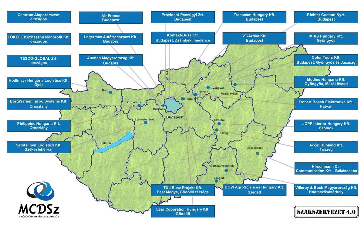 Szakszervezeti térkép